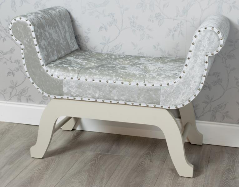 crushed-velvet-grey-loveseat