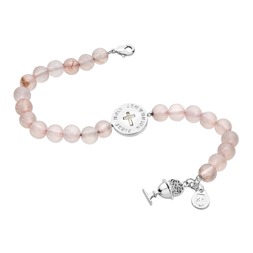 Pink Bead Charm Bracelet