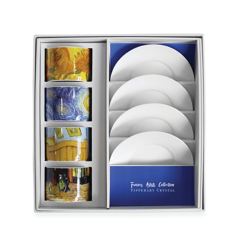 VINCENT SET 4 CAPPUCCINO CUPS BOX 115361