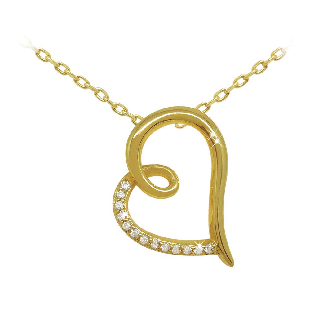 Gold Heart Shaped Pendant
