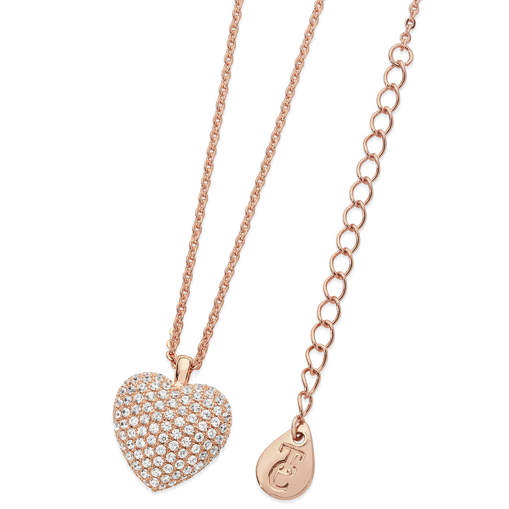 RG Large Heart Pave Necklace