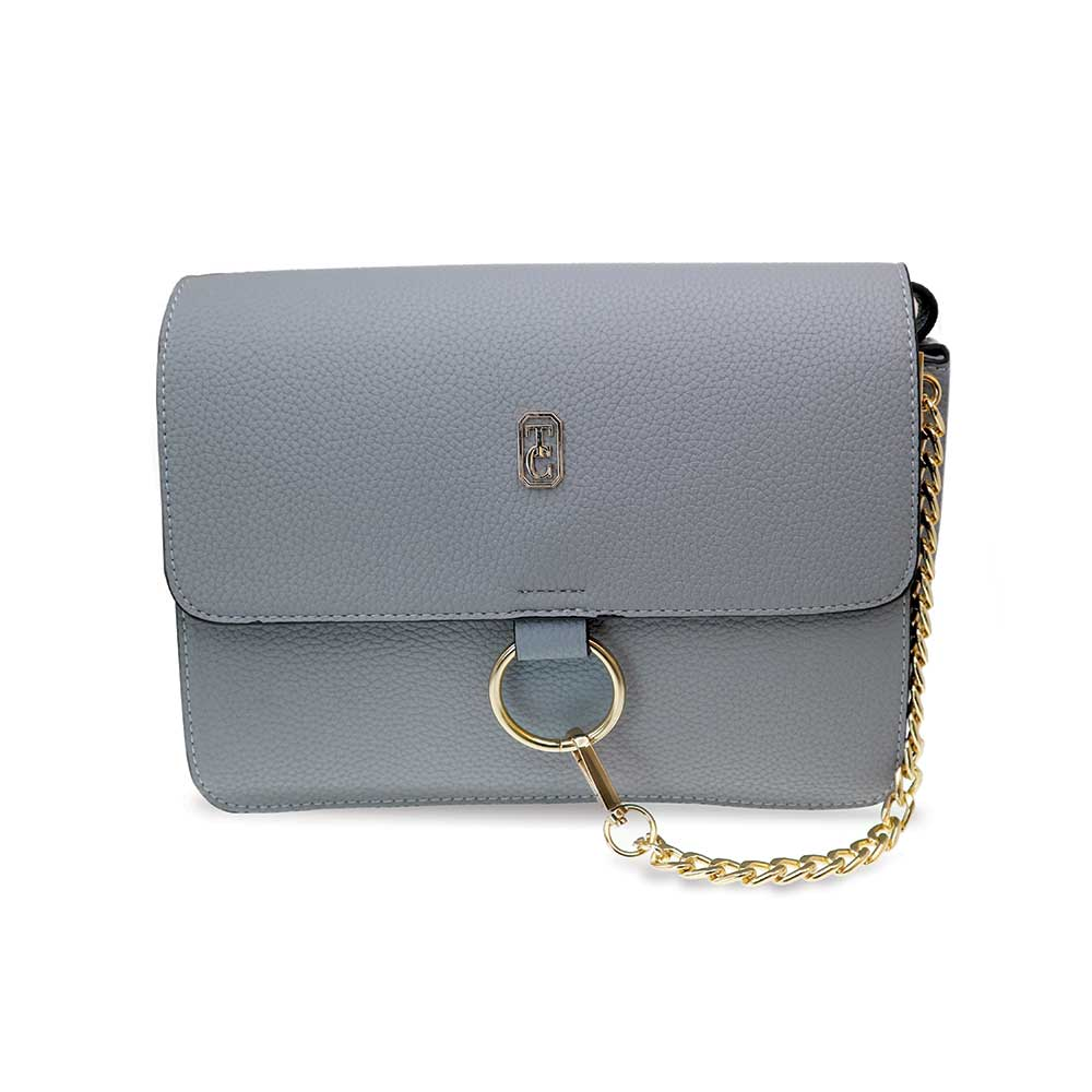 Shoulder Bag with Chain Verona Grey