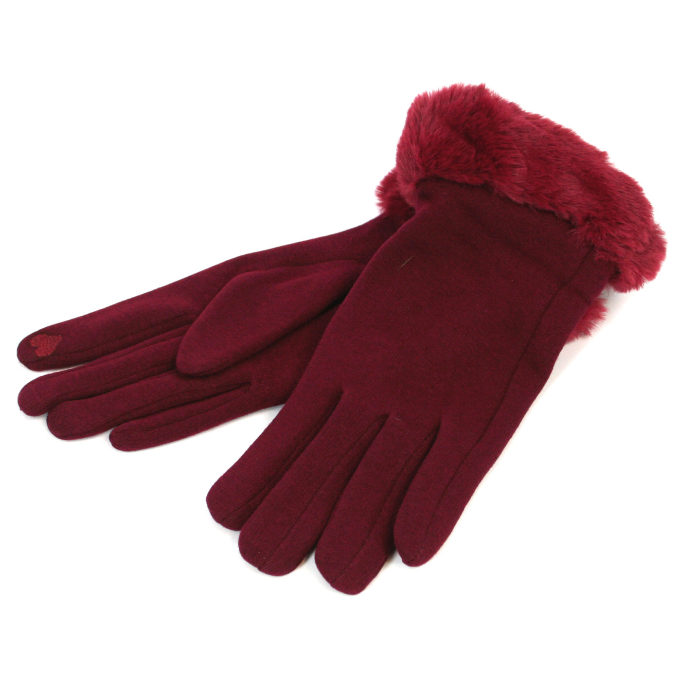 Dark Red Gloves