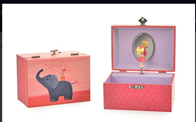 Musical Jewellery Box Elephant