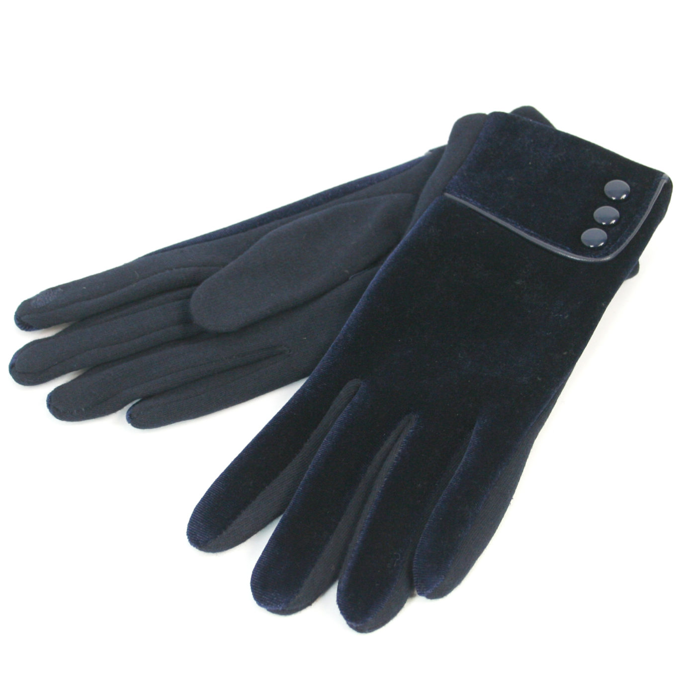 Velvet_Dark Blue Gloves