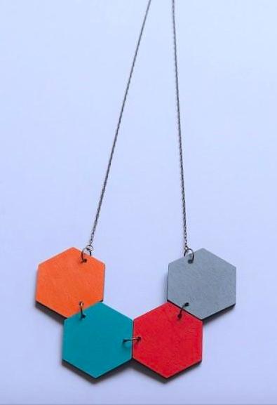 Hexagon Necklace 3