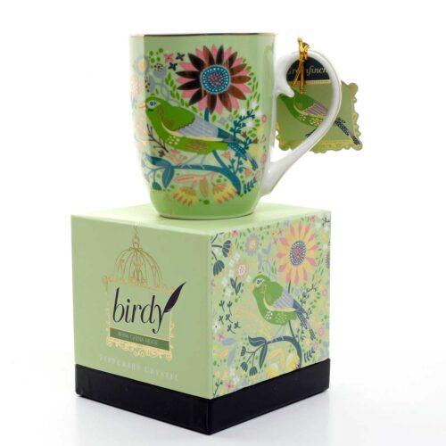 Green Finch Birdy Mug