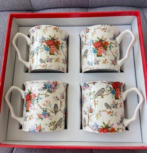 Set of 4 Shannonbridge Mug | Owly Fowly Design