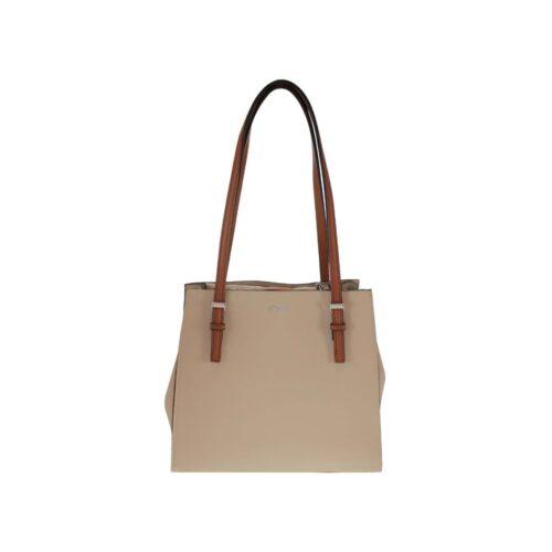 Cream and Tan Handbag