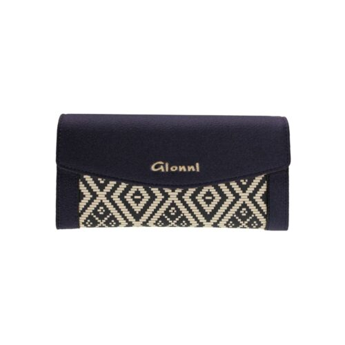 Navy & Cream Large Wallet by Gionni