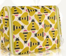 Orla Kiely Bee Hanging Wash Bag