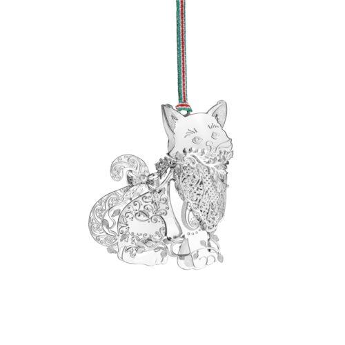 Newbridge SIlver Cat Xmas Decoration