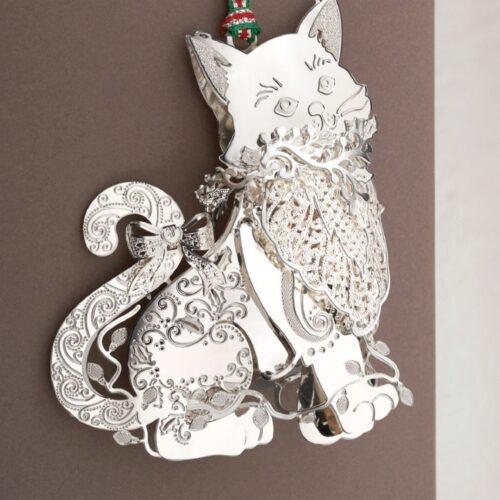 Newbridge Silverware Cat Christmas Tree Decoration