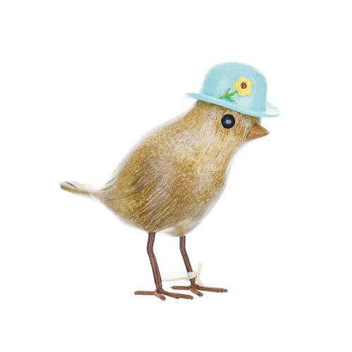 Garden Bird in Bird Box Blue Hat dcuk