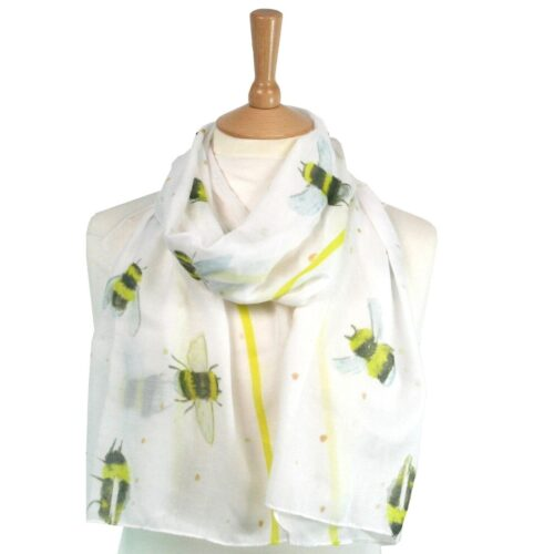Bee Scarf White