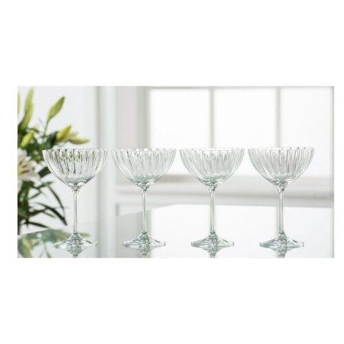 Set of 4 Erne Champagne/Cocktail Saucers