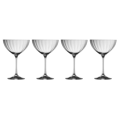 Set of 4 Champagne/Cocktail Saucers